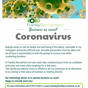 Featured image for Coronavirus - business as usual